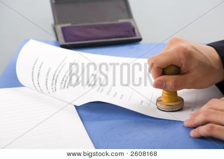 Stamping The Document
