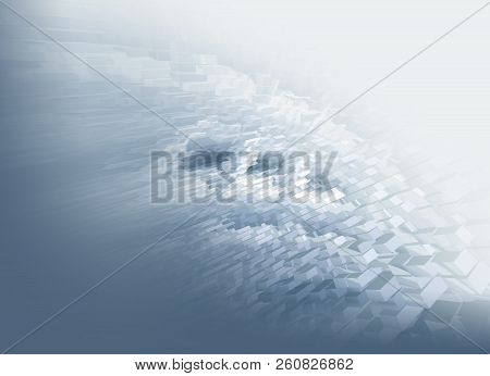 Abstract  Monochromatic 3d Rendered Illustration Background For Design