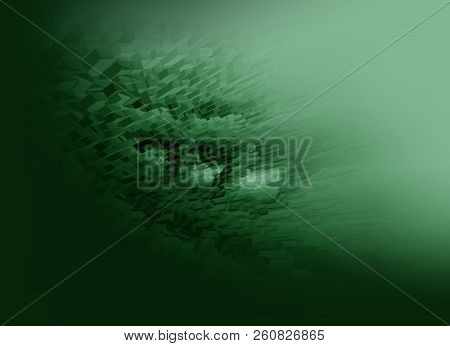 Abstract 3d Rendered Green Illustration Background For Design