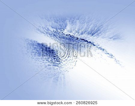 Abstract 3d Rendered Blue Illustration Background For Design