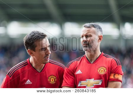 September 25th, 2018, Cork, Ireland - Gary Neville And Ryan Giggs Line Up At Pairc Ui Chaoimh Pitch