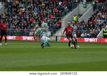 September 25th, 2018, Cork, Ireland - Johan Mjallby Fouls Nicky Butt For A Penalty  During The Liam