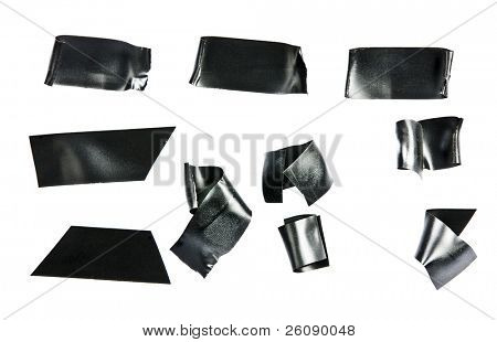 Black electrical tape Isolated on white.