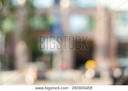 Blurred Background Photo.cityscape Bokeh. Defocused Abstract City.background Out Of Focus.can Use As