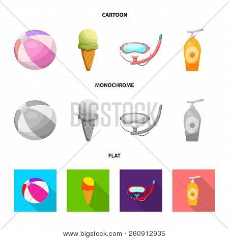 Vector Illustration Of Pool And Swimming Icon. Collection Of Pool And Activity Stock Symbol For Web.