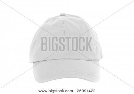 White Baseball Cap isolated on white