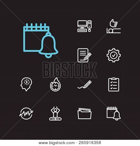 Task Icons Set. Delegate Tasks And Task Icons With Non-stop Action, Mediate And To-do List. Set Of S