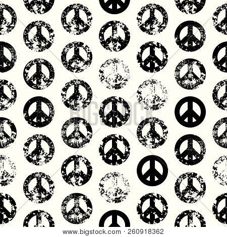 Abstract Background With Peace Signs. The Sign Of Pacifists.