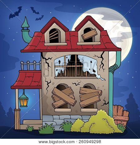 Derelict House Theme Image 2 - Eps10 Vector Picture Illustration.