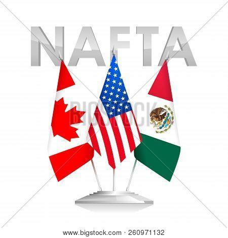 Flags Nafta Countries Vector Photo Free Trial Bigstock