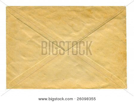 Back side of obsolete textured envelope isolated poster