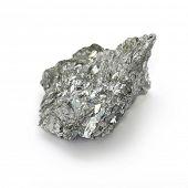 Antimony, minor metals on white background poster