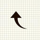 Undo Arrow Icon, Motion icon. Back arrow icon. Arrow button. poster