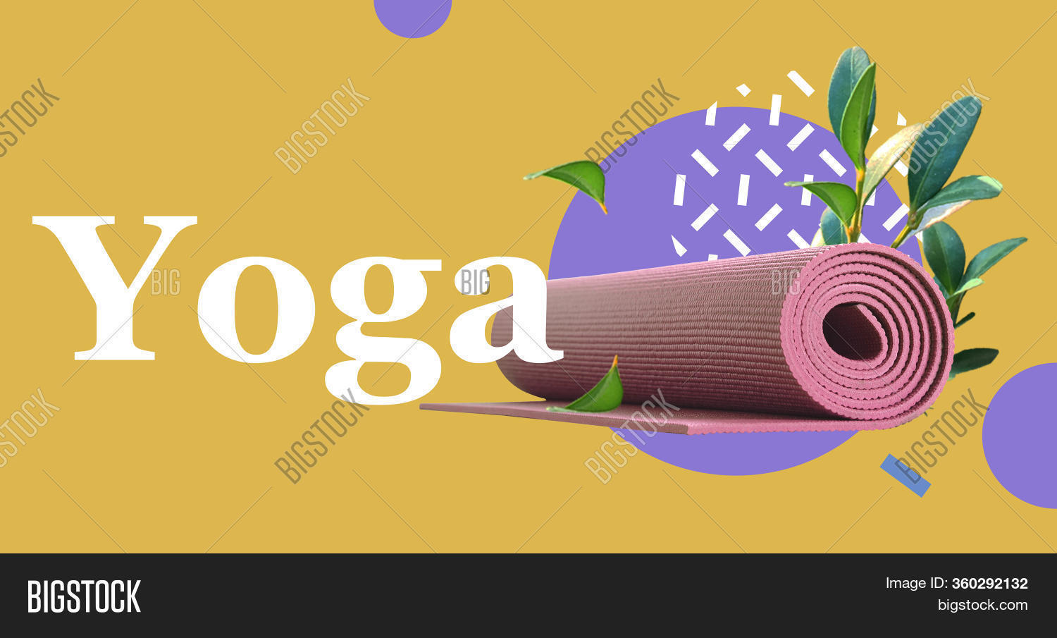 Twisted Yoga Mat Fresh Image Photo Free Trial Bigstock