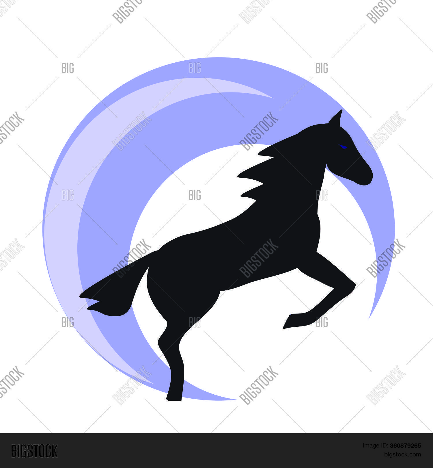 Running Horse Black Vector Photo Free Trial Bigstock