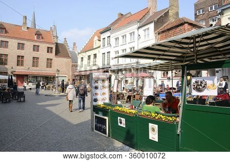 Square In Brugge Old Town