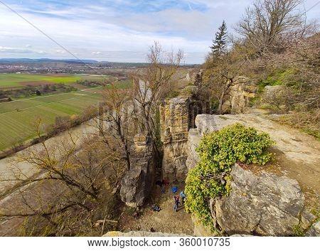 Rocks Of The Hessigheimer Felsengaerten Near Town Of Mundelsheim