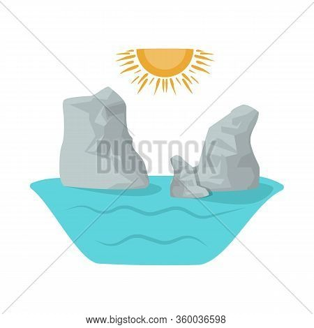 Vector Illustration Of Rock And Bay Icon. Set Of Rock And Vietnamese Vector Icon For Stock.
