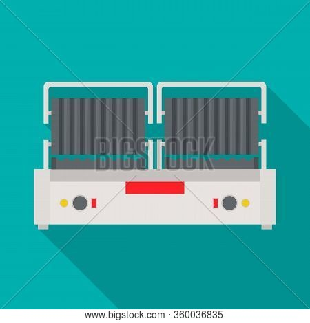 Vector Design Of Waffle And Maker Symbol. Web Element Of Waffle And Machine Vector Icon For Stock.
