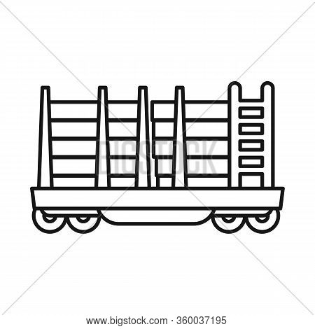 Vector Illustration Of Wagon And Container Logo. Web Element Of Wagon And Transportation Vector Icon
