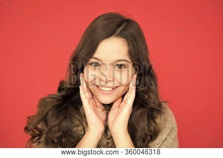 Happy Childhood. Beautiful Model Kid. Fashion Concept. Best Shampoos And Conditioners For Lush Hair.