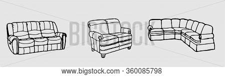 Sofa Icon Isolated On Background  Sofa Interior, Sofa Vector, Style