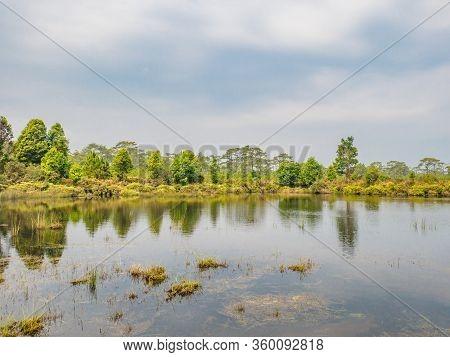 Anodard Pond On Phu Kradueng Mountain National Park In Loei City Thailand.phu Kradueng Mountain Nati