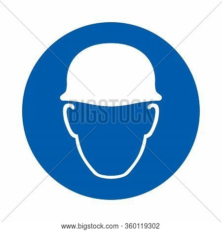 Safety Helmet Must Be Worn Sign. M014. Standard Iso 7010