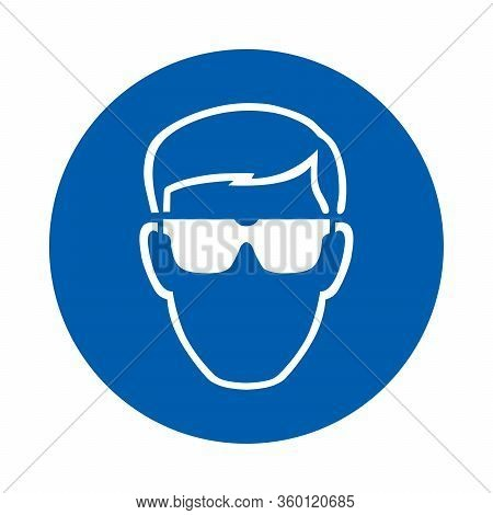 Safety  Glasses Must Be Worn. M004.  Standard Iso 7010