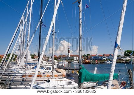 Marina Timmendorf On Island Poel In The Baltic Sea Close To The Hanseatic City Of  Wismar