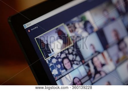 Bucharest, Romania - March 31, 2020: Macro And Shallow Depth Of Field Image (selective Focus) With T