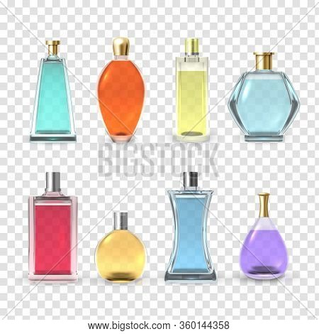 Perfume Bottles Set, Aroma And Fragrance Collection