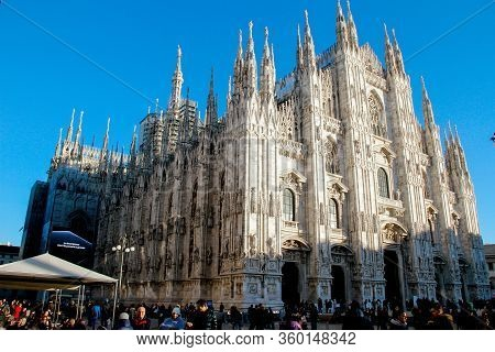 Malan- Jan 10, 2019: Milan Cathedral Duomo Di Milano Is The Cathedral Church Of Milan In Lombardy, N