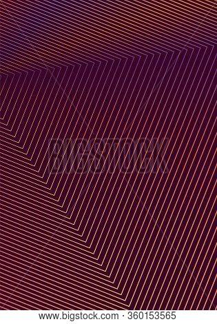 Minimal Cover Design Template. Modern Brochure Layout. Orange Vibrant Halftone Gradients On Wine Red