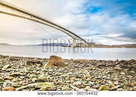 Isle Of Skye Bridge - Highlands Of Scotland - Concrete Bridge From Mainland Scotland To Isle Of Skye