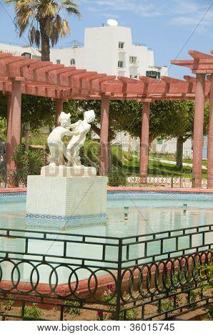 Gazebo Pool Fountain Waterfront Oasis Park El Kantaoui Sousse Tunisia Africa