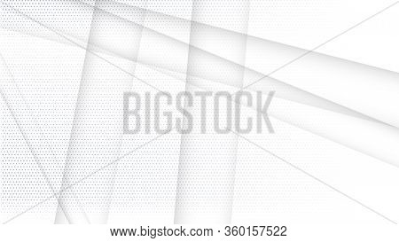 Abstract White And Gray Gradient Background. Halftone Dots Design Background. Gray Dotted Halftone B