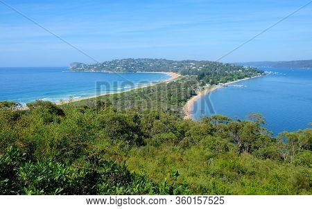 View Of The Scenic Landscape Of The Palm Beach In Sydney, Australia