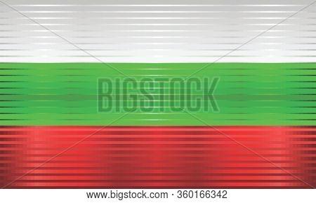 Shiny Grunge Flag Of The Bulgaria - Illustration,  Three Dimensional Flag Of Bulgaria