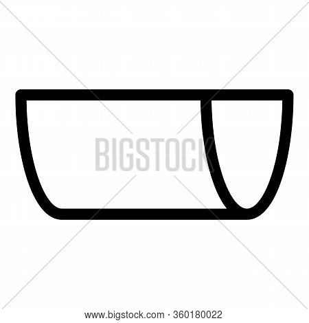 Chute Gutter Icon. Outline Chute Gutter Vector Icon For Web Design Isolated On White Background