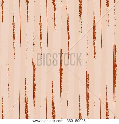 Abstract Pink Stripe Vector Seamless Pattern Background. Painterly Brush Stroke Style Striped Scratc