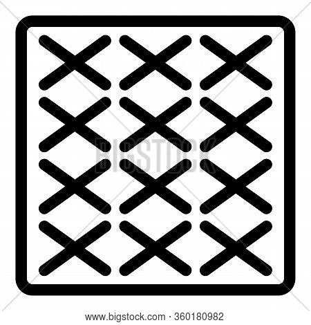 Surface Paving Icon. Outline Surface Paving Vector Icon For Web Design Isolated On White Background
