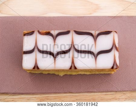 Traditional French Dessert Cake Millefeuille  Classic Traditional French Dessert Cake Called Millefe