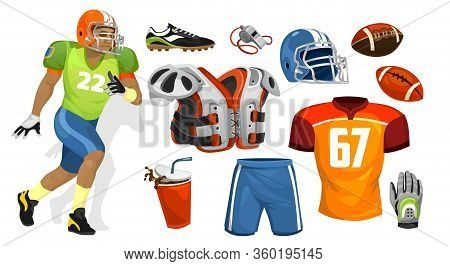 American Football Player Supplies For Competition