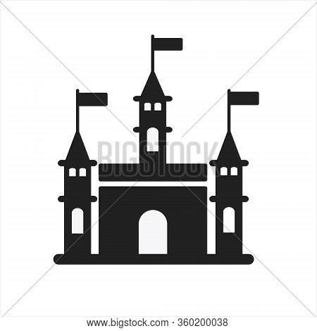 Castle Tower Icon Design. Castle Tower Icon In Trendy Flat Style Design. Vector Illustration.