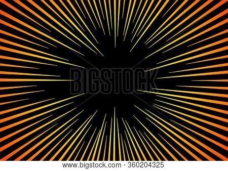Sun Rays or Explosion Boom. Hyper Speed Warp Sun Rays or Explosion Boom for Comic Books Radial Background