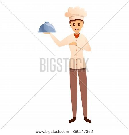 Cooking Show Master Icon. Cartoon Of Cooking Show Master Vector Icon For Web Design Isolated On Whit