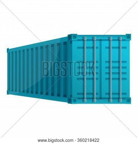 Dockyard Cargo Container Icon. Cartoon Of Dockyard Cargo Container Vector Icon For Web Design Isolat