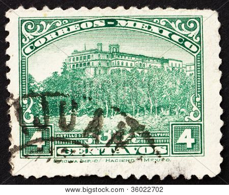 Postage stamp Mexico 1923 Chapultepec Castle, Mexico City