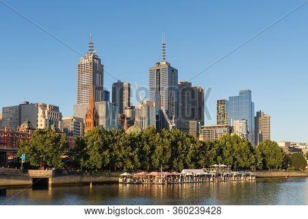 Melbourne, Australia - December 4: Landscape Of The South Melbourne In The Evening On December 4, 20